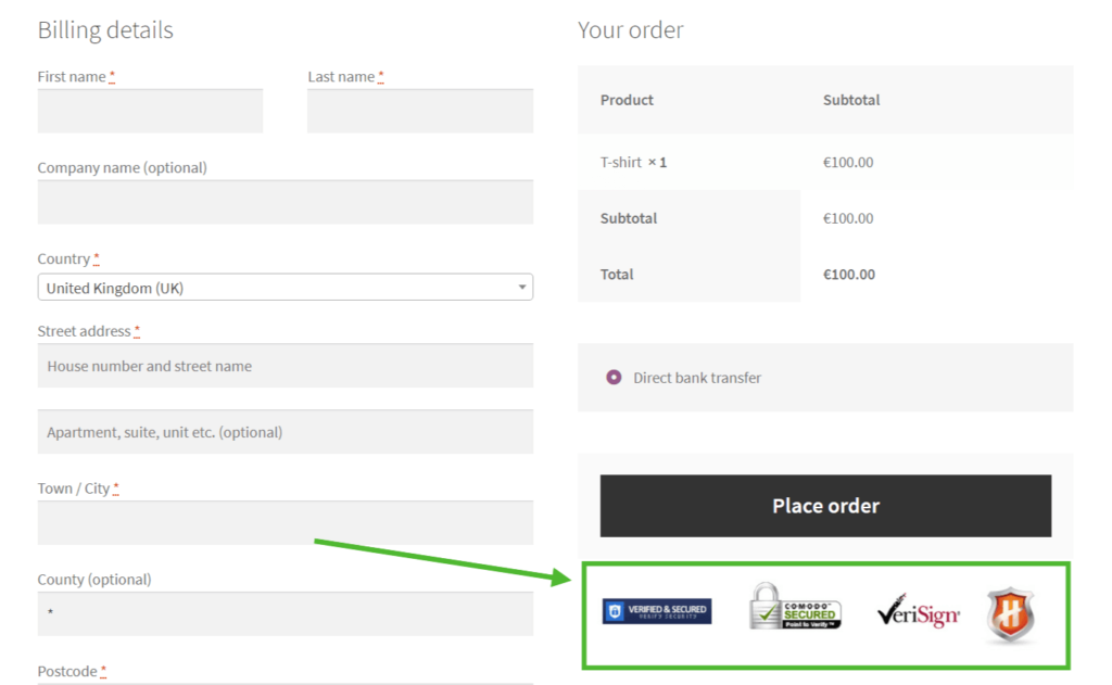 WooCommerce add content to checkout page