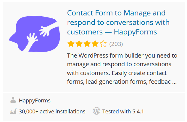 Contact Form to Manage and respond to conversations with customers — HappyForms