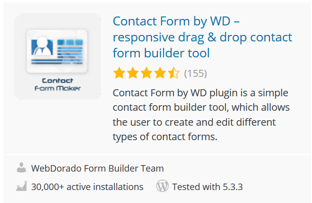 Contact Form by WD – responsive drag & drop contact form builder tool