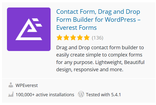 Contact Form, Drag and Drop Form Builder for WordPress – Everest Forms