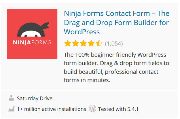 Ninja Forms Contact Form – The Drag and Drop Form Builder for WordPress